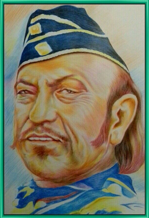 The Fond Memory Remains Alive Even Though AMRISH PURI Has Long Been Gone From Amidst Us..Truly A Befitting Tribute By Artist RANJU To A Complete Character Actor In Bollywood