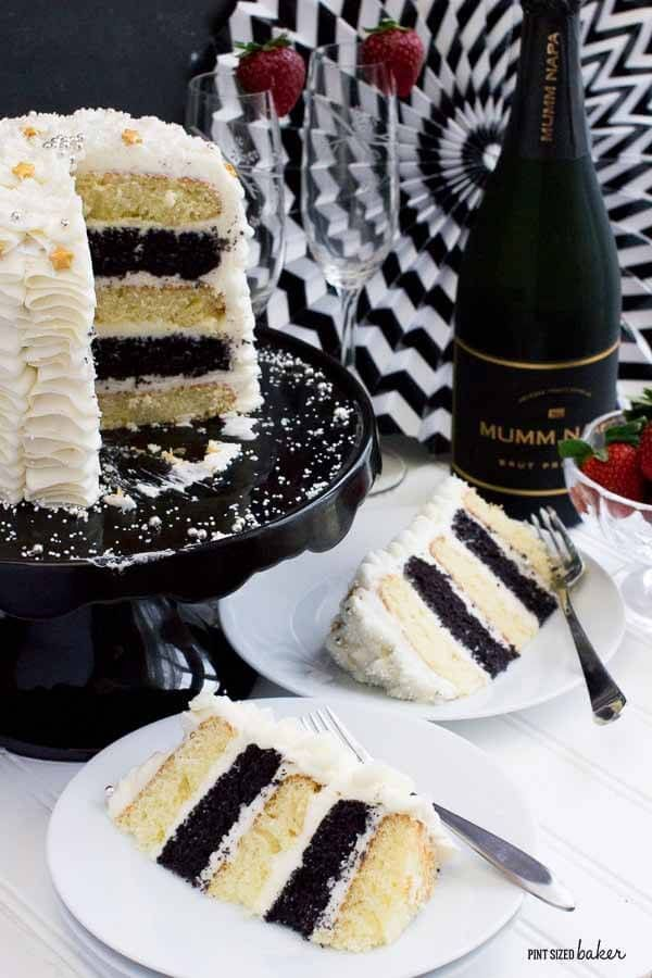 Black and White Cake that's perfect for every elegant party! I'm making one for our next celebration.