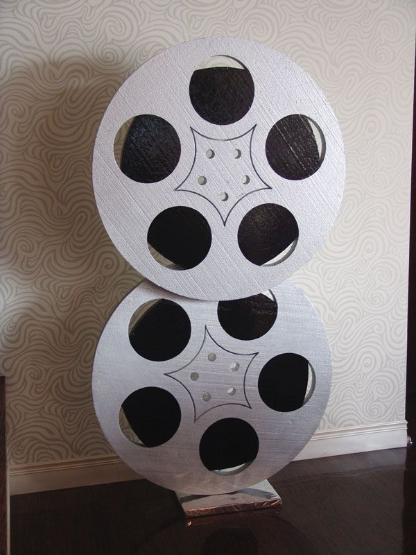 Hollywood large film reel decorations