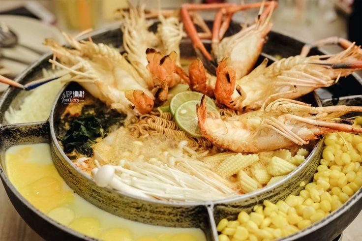 [THAILAND] Tom Yum UFO Hot Pot with Cheese at SanSab Restaurant, Bangkok