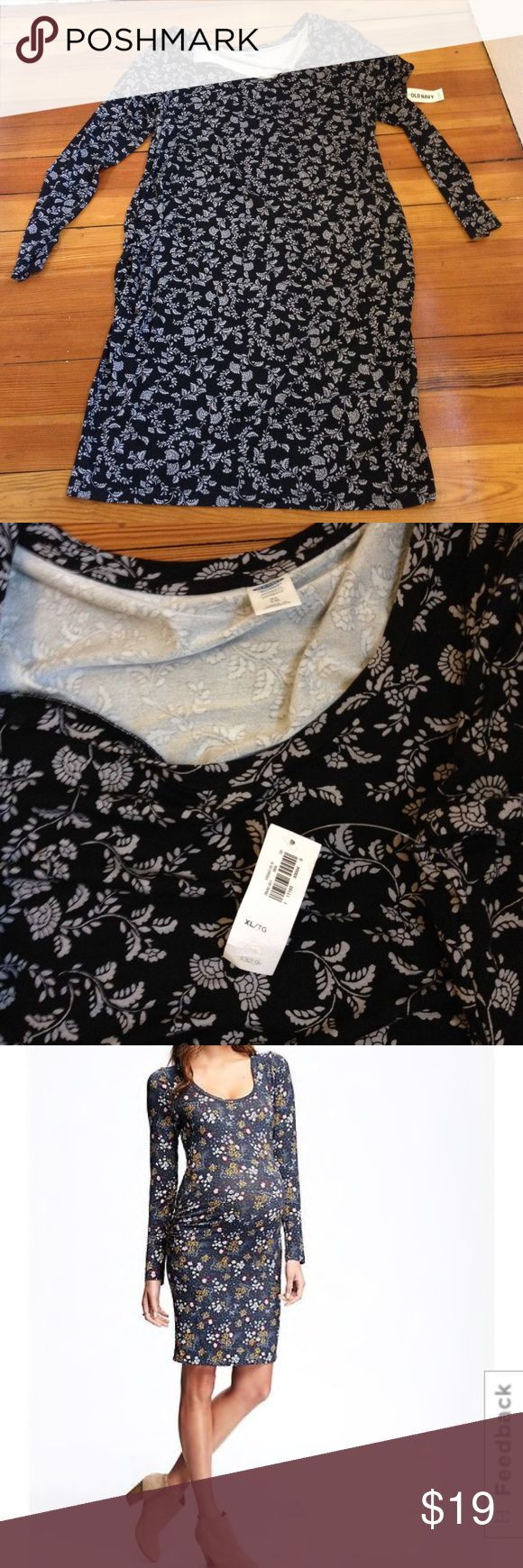 NWT Old Navy Maternity Dress BodyCon Grey Floral NWT Old Navy Maternity Dress BodyCon Grey Floral 3rd pic for modeling different print for sale Old Navy Dresses