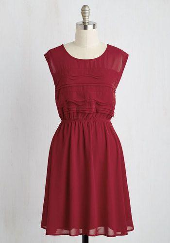 Vogue Wave Dress in Garnet | Mod Retro Vintage Dresses | ModCloth.com