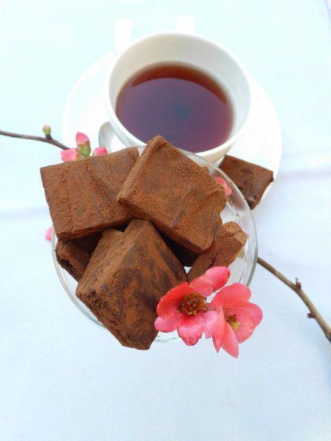 Cioccolatini di San Valentino fatti in casa all'infuso di frutti rossi