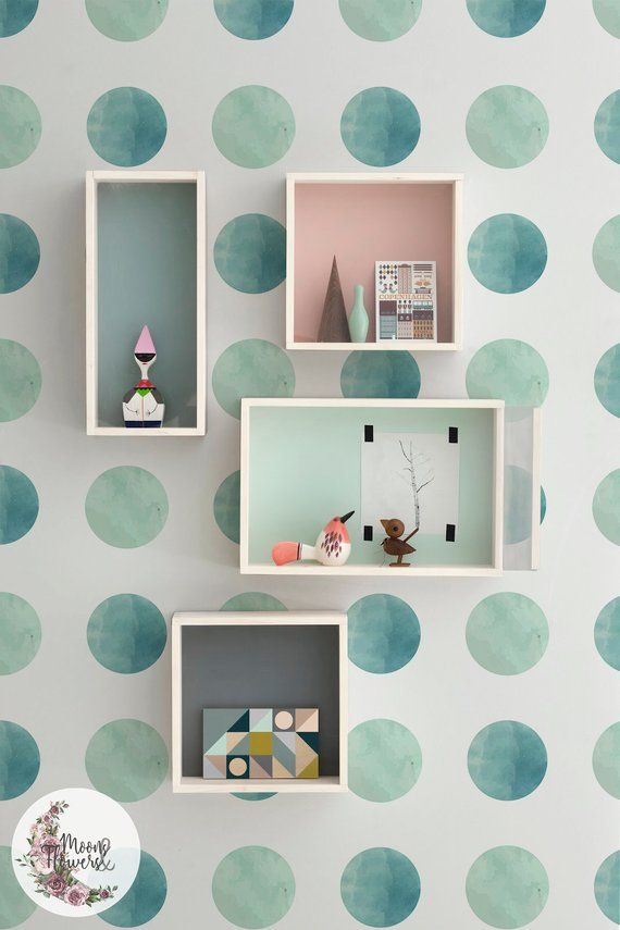 Watercolor Dots Removable Wallpaper Geometric Wall Mural Simple
