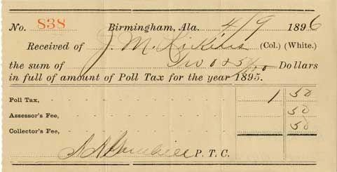 poll tax receipt