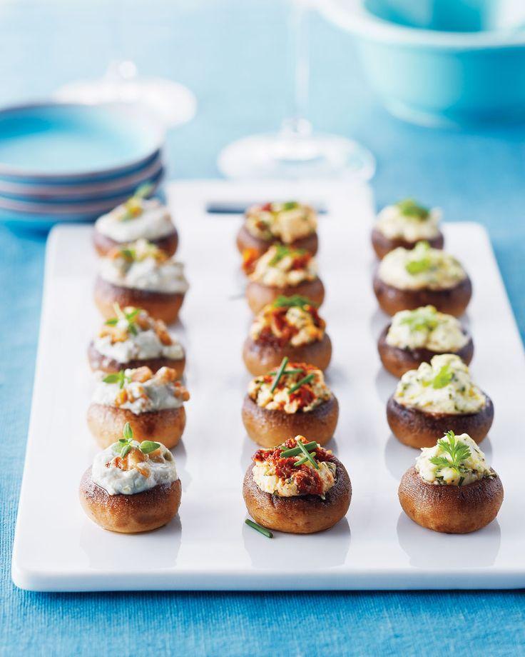 Blue Cheese and Walnut Mushrooms