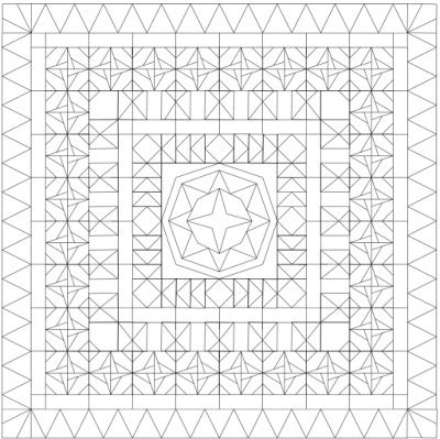 Quilting Along the Grain: Designing a Medallion Quilt