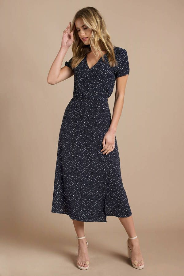 630bac05cd8dc5 Looking for the Penelope Navy Polka Dot Midi Dress? | Find Midi Dresses and  more