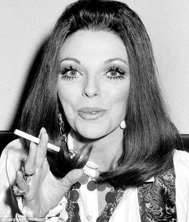 Dynasty diva: Even the ever-sophisticated Dame Joan Collins enjoyed a cigarette in the Six...