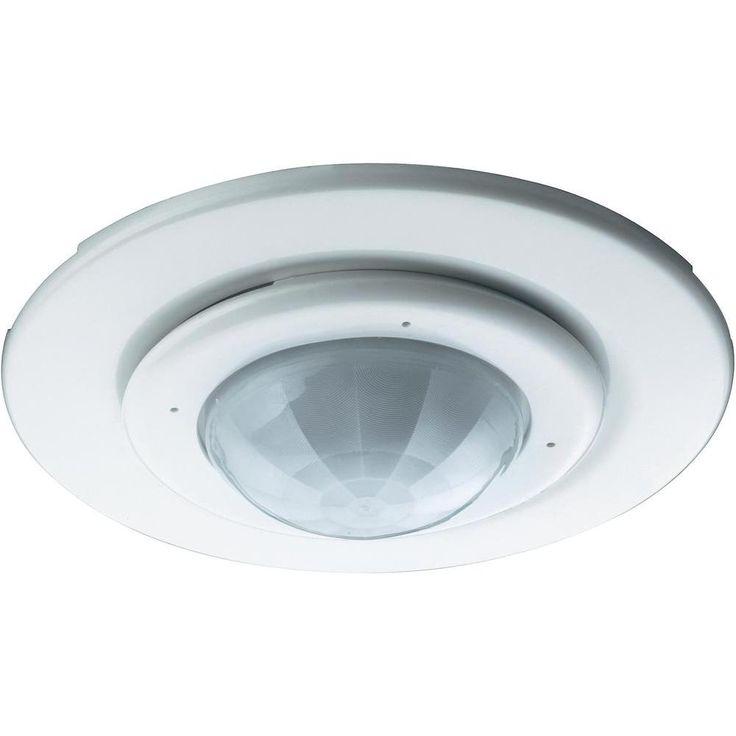 Détecteur de mouvements PIR plafond sygonix 33988S 360 ° blanc IP20