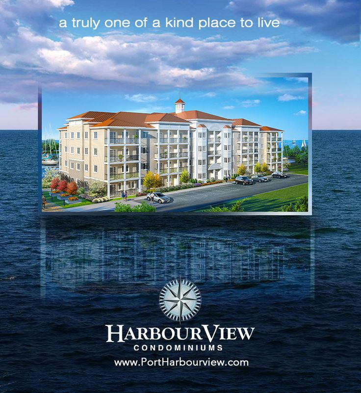 Harbourview is a pair of intimate boutique condominiums rising just 4 storeys in height, with one and two bedroom suites, each luxuriously appointed and with balconies offering fabulous views of the lake and community. Phase 2 is coming soon don't miss out! PortHarbourview.com