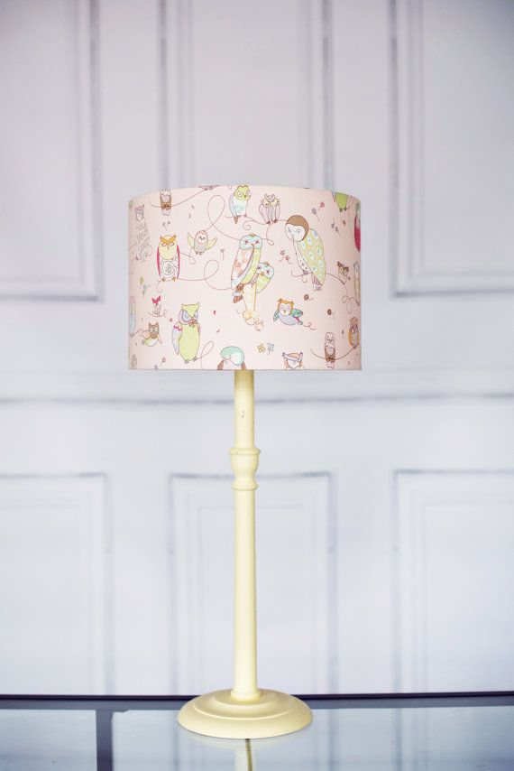 Hey I Found This Really Awesome Etsy Listing At Https Www 250545007 Pink Owl Lamp Shade Lampshade Makeup Desk Pinterest