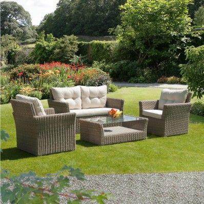 Fresh RIMINI Lounge Garten Sofa Sitzer Poly Rattan Dunkelgrau garten gartenm bel gartensofa