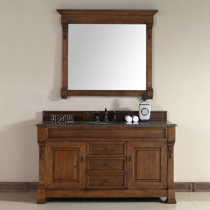 Web Image Gallery Brookfield ud Traditional Single Sink Bathroom Vanity Country Oak by James Martin Model