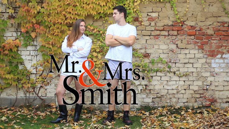 Halloween costume, couple costume, Mr. and Mrs. Smith - Angelina Jolie and Brad Pitt, last minute, diy, eas, idea