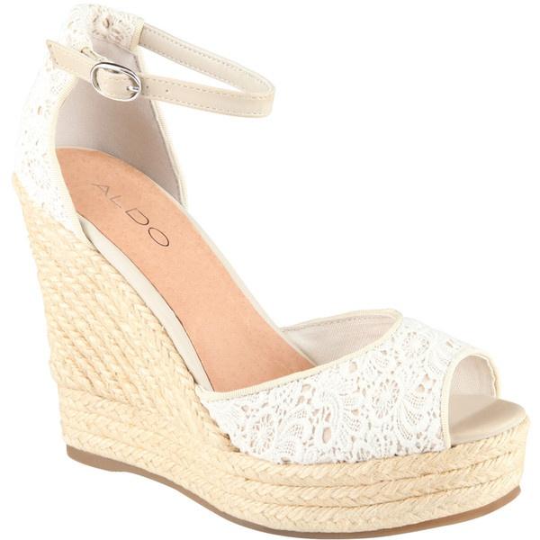 Bridal Shoes Aldo: ALDO Lovin Wedges ($60) Found On Polyvore