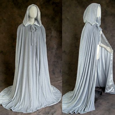 Grey Velvet Cloak Lined in Grey Satin : Artemisia Designs:, Historical and Fantasy Apparel for the Regular and Plus Size - Renaissance, Medieval, Victorian, Cloaks, and LARP