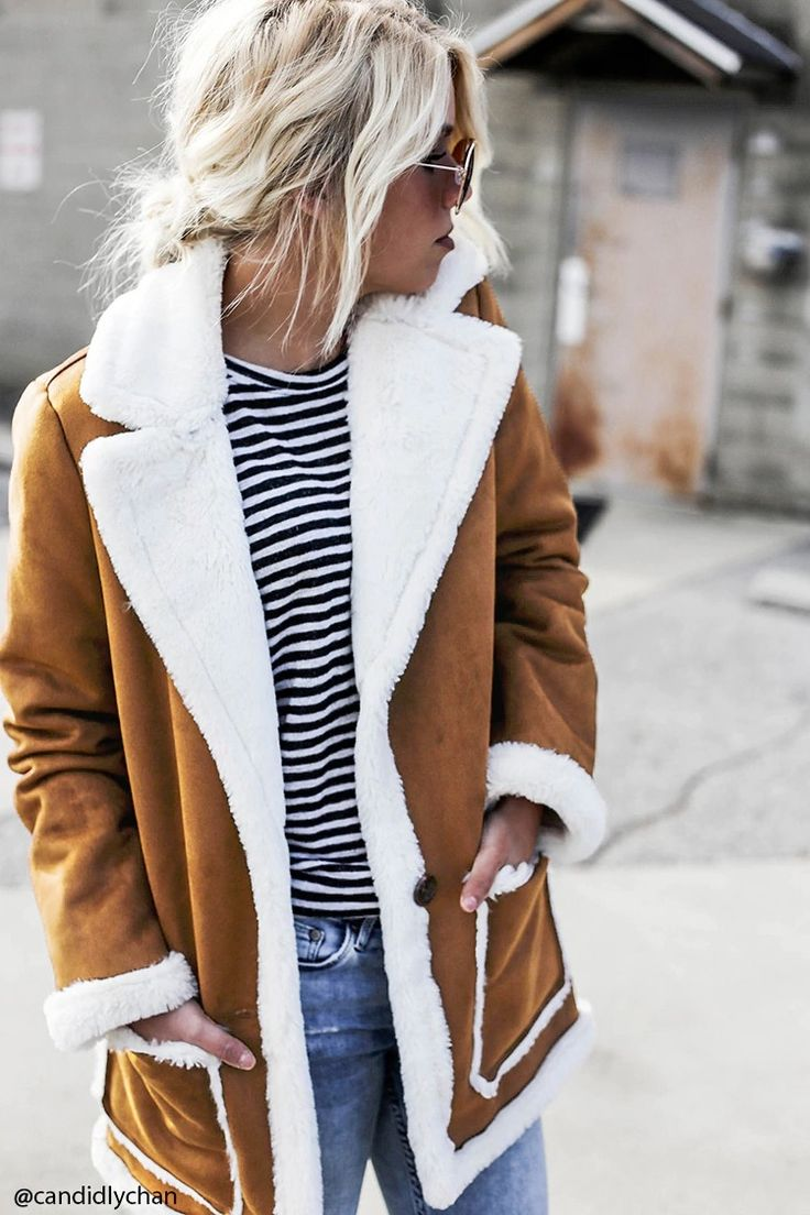Best 25  Faux shearling coat ideas on Pinterest | Shearling jacket ...