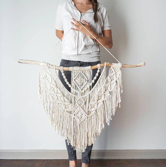 Dope Seil große Makramee Wandbehang / Wandteppich / Makramee Dekor / Boho Dekor / Wandkunst / Boho Stil / Boho Haus / moderne Makramee