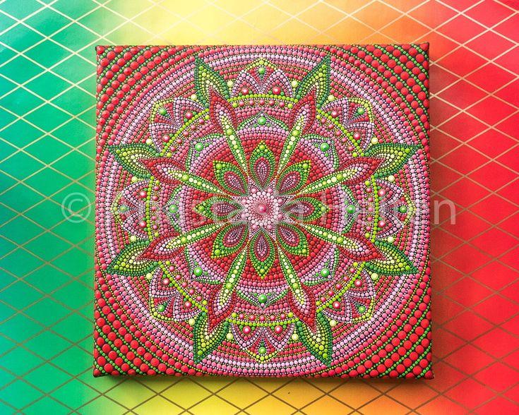 Mandala stone and painting - Mandala Paintings