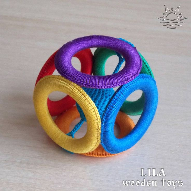 Baby rattle Montessori rattle Crochet rattle Baby block Baby teething toy Organic baby toys Natural toys Teething ring crochet New baby gift