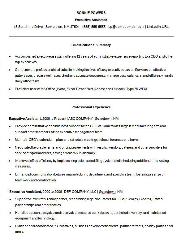 Sample Microsoft Word Executive Assistant Resume Template , A Successful Resume Template Open Office for Job Seeker , Resume is an important document that needs to be prepared if you want to apply a job. Resume should be made in a simple and attractive way. A good res...
