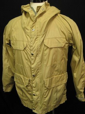Vintage 70's The North Face Tan Mens Rain Jacket Medium | eBay