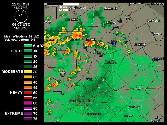 11/07/2016 10pm  Austin-San Antonio Radar   Weather Underground