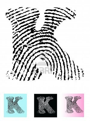 Fingerprint for each child with their own letter for the scrapbook page?