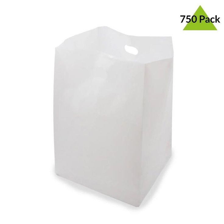 825 x 6 x 14 white plastic bags with handles shopping