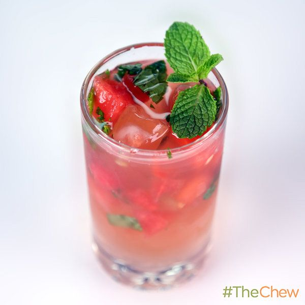 Watermelon Mojito by Clinton Kelly! #TheChew #Cocktail