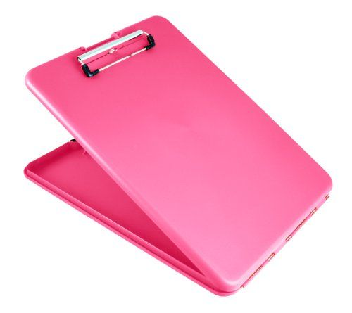 $7 Saunders SlimMate Plastic Storage Clipboard, Letter Size, 8.5 x 12 Inch, Pink (00835) Saunders http://www.amazon.com/dp/B004I2K75O/ref=cm_sw_r_pi_dp_wvZLub0ZKE6E4