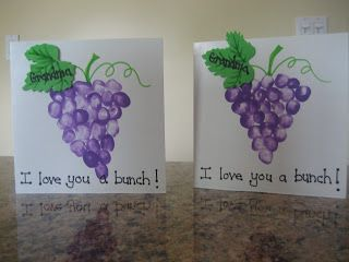 "Cute card for Mother's or Father's Day!  ""Grandma, I Love You a Bunch!""...or Grandpa, Mommy or Daddy!   Inside the card have the child dictate something they love doing with Grandma, etc."