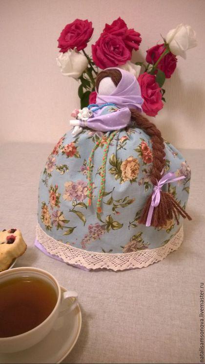 Кухня ручной работы. Ярмарка Мастеров - ручная работа. Купить Кукла-грелка на чайник в русском стиле. Handmade. Бледно-сиреневый