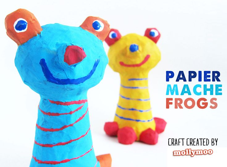 New Craft Tutorial: How to make Papier Mache Frogs, to inspire play #kids #papiermache #papermache #crafts