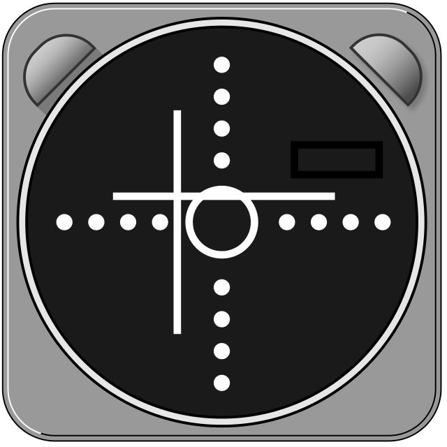 ILS gauge - Instrument landing system - The pilot has to correct to the left and a little upwards - Wikipedia, the free encyclopedia - by Fred the Oyster