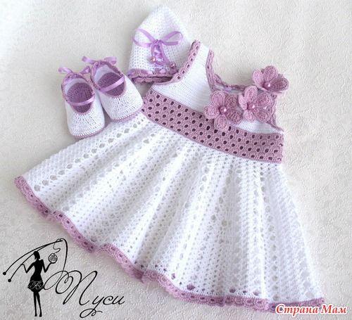 ❤ ✿ Mi Rincón del Tejido ✿ ❤: 3 hermosos vestidos para niña paso a paso