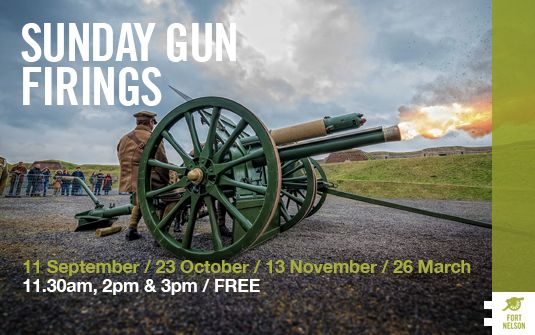 SUNDAY GUN FIRINGS Location: Fort Nelson Start date:Sunday 20th March 2016 Suitable for: Everyone Event type: Gun Firing
