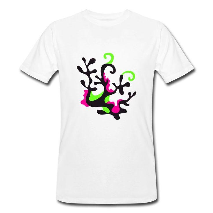 Neon Coral T-shirt for men 🌿 100% organic cotton
