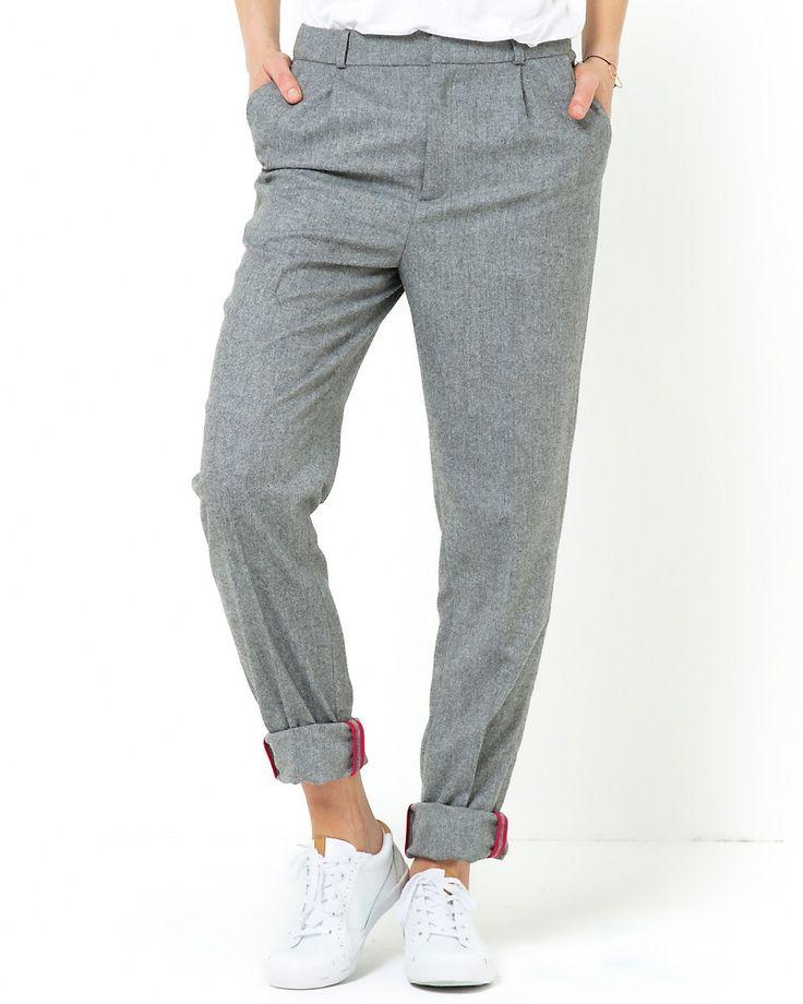 Soft Grey Byxor i Melerad grå - La Redoute