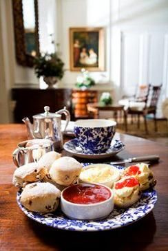 Afternoon tea at 900 year old 'The Manor at Weston on the Green' in the heart of the Cotswolds.