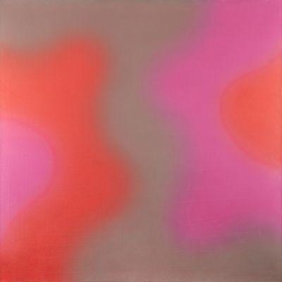 """wojciech fangor   Wojciech Fangor, """"M68"""", 1969 r., olej, akryl/płótno, 142,24 x 142,24 ..."""