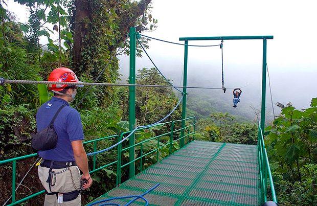 Zip lining in Monteverde Cloud Forest