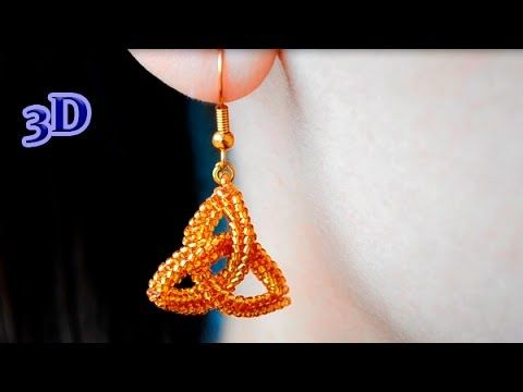 Beaded Earrings Celtic Knot Triquetra ~ Seed Bead Tutorials