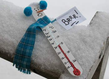 Winter Craft for Kids - Snowman Thermometer