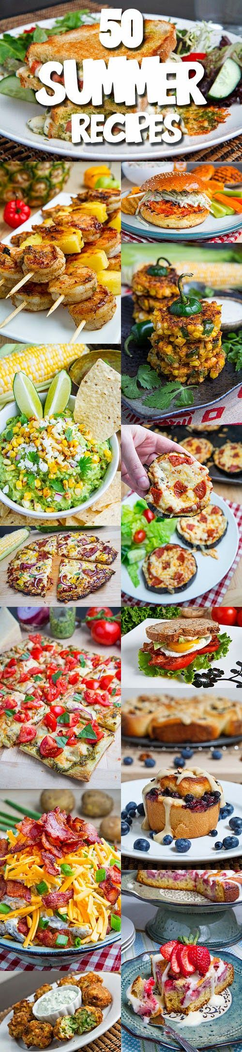 50 Summer Recipes, these look great, i've tried some of them and they really are amazing!