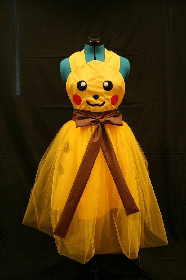 Piki Prom: Costumes, Pokemon, Stuff, Bridesmaid Dresses, Geek Fashion, Pikachu Dresses, Prom Dresses, Cocktails Parties, Pikachu Aprons