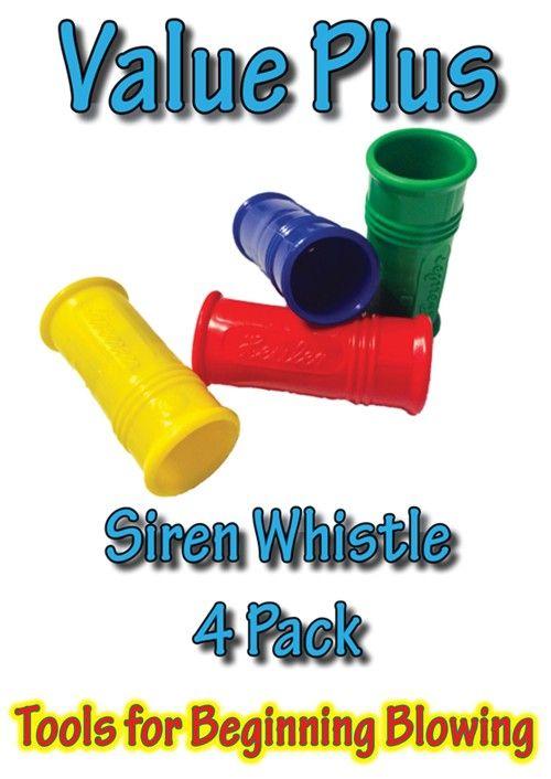 SensoryTools.net Australia - Siren Whistles - Value Plus (4 pack)