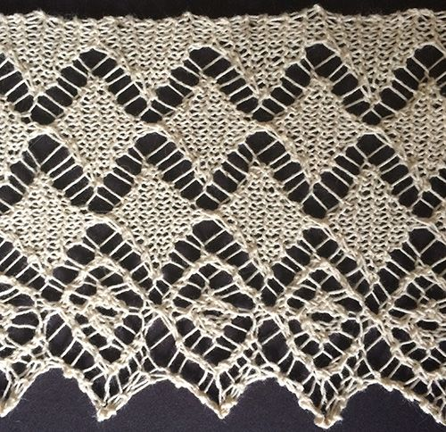 Easy Lace Edging Knitting Pattern : 1000+ images about knit edging & insertion on Pinterest Knit lace, Lace...