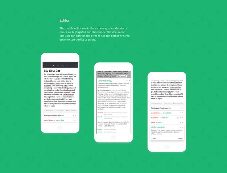 Grammarly for iOS on Behance